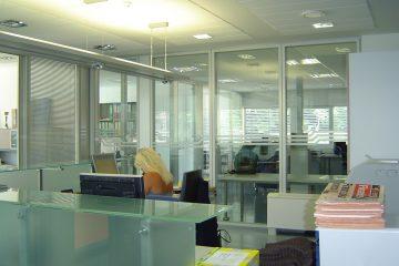 Predelne  stene - steklene stene