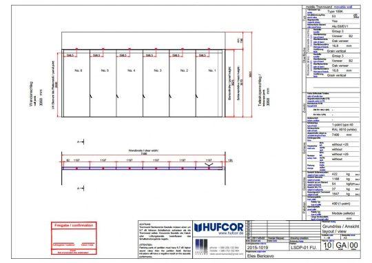 Nacrt AC Blisk premična stena