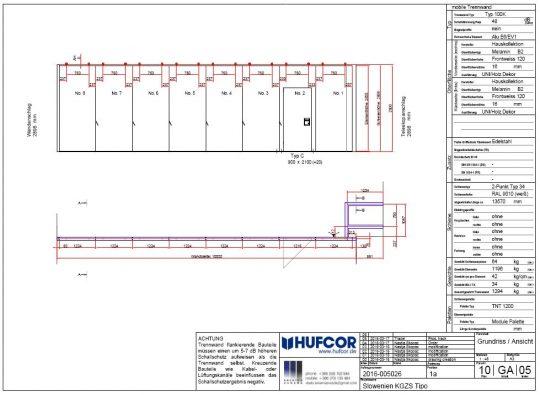Delavniški načrt stene