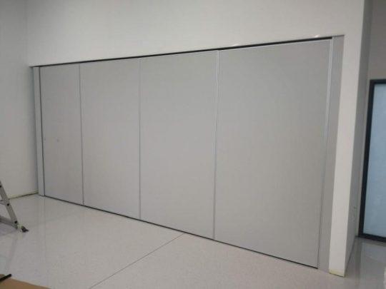 Stena v učilnici 2 je postavljena
